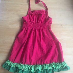 Adorable Gymboree Watermelon Halter Dress sz 3 EUC